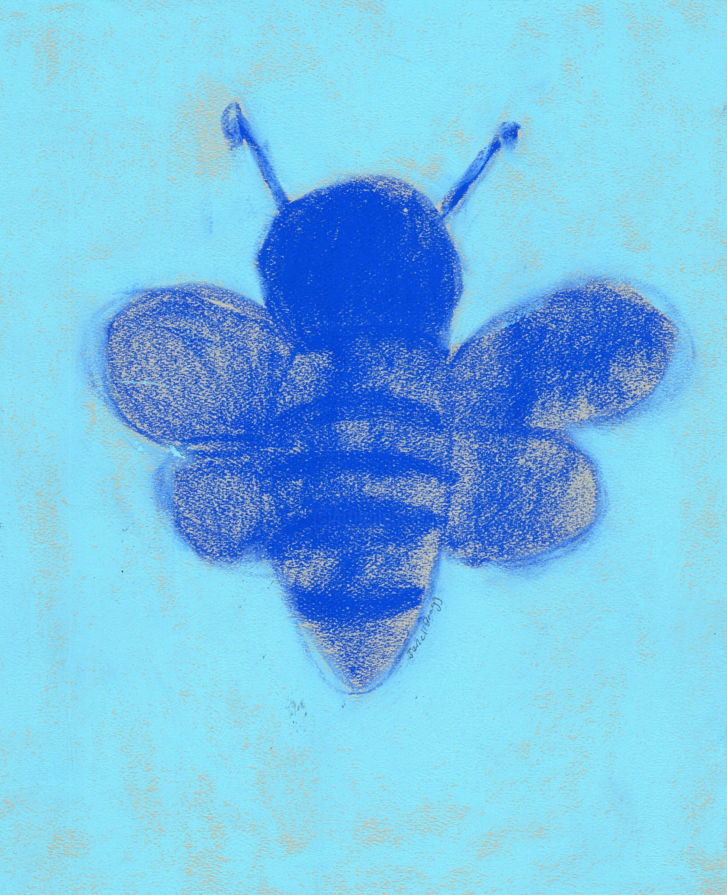 Janel Bragg - Bumble Bee in Blue