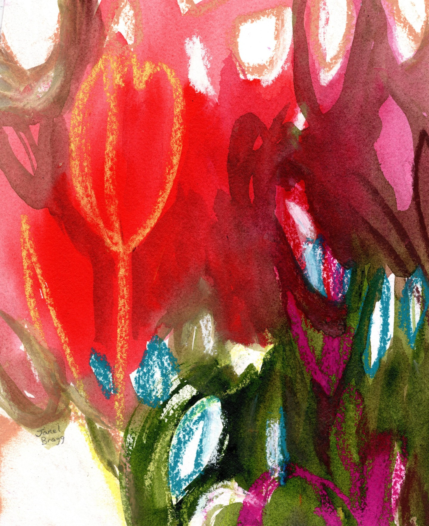 Janel Bragg - Tulips in Spring Abstract
