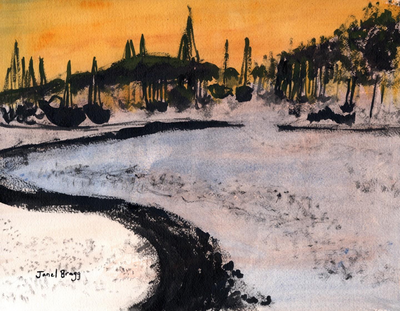 Janel Bragg - Cap Sante Marina in Ink