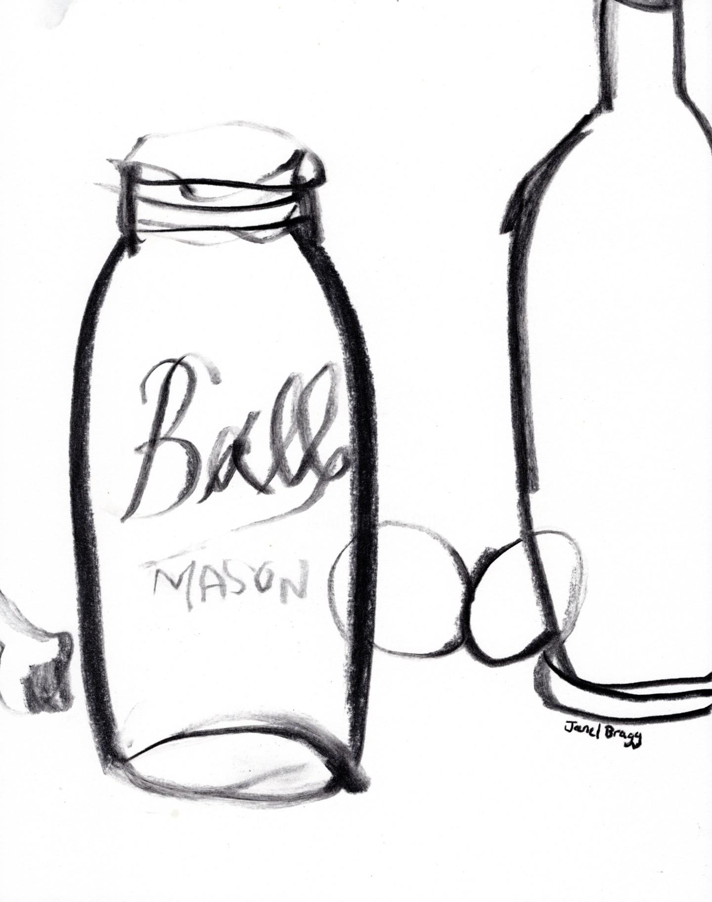 Janel Bragg - Still Life with Ball Mason Jar