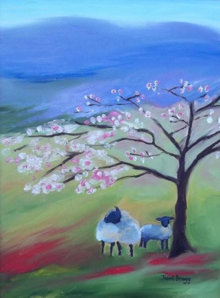 Janel Bragg - Sheep and Cherry Tree
