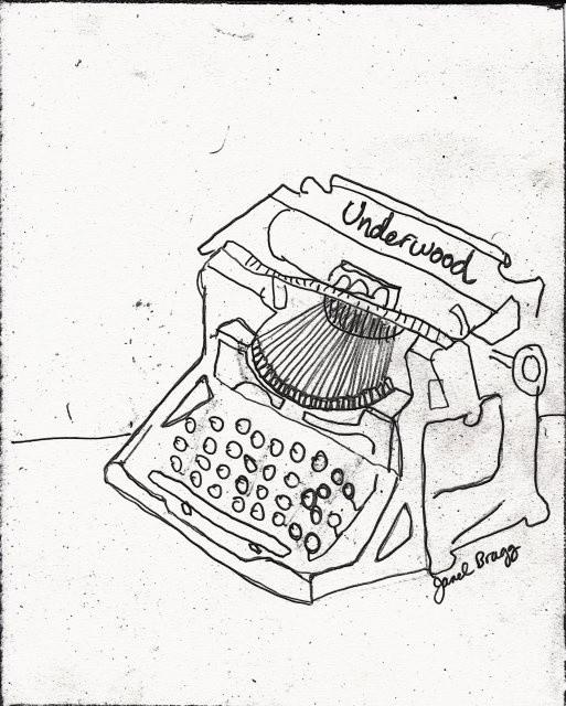 Janel Bragg - Antique Typewriter