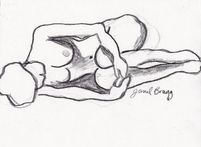Janel Bragg - Lying Nude