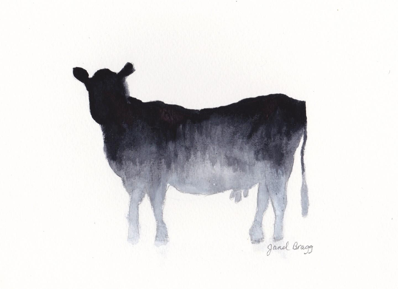 Janel Bragg - Cow in Gray