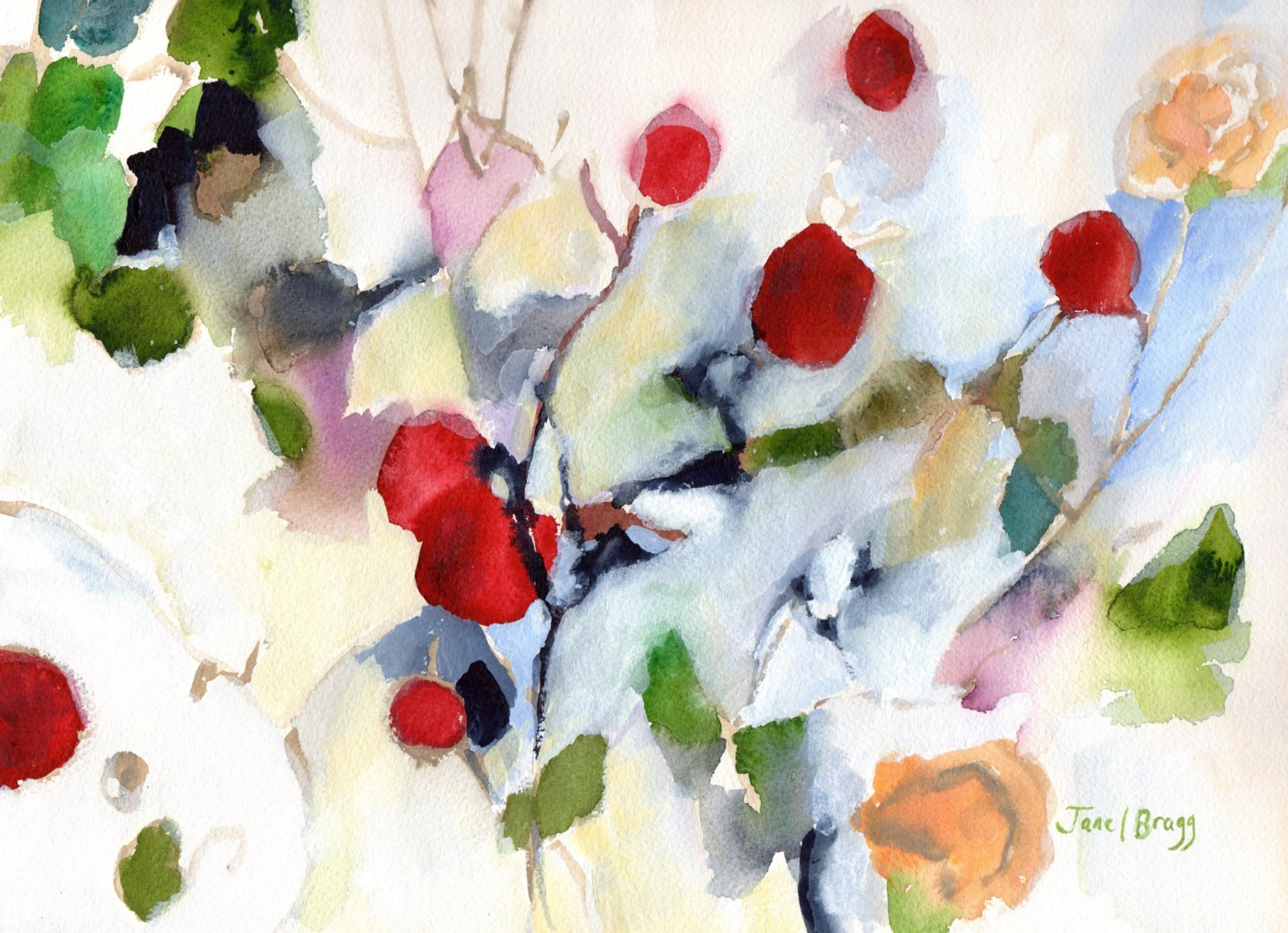 Janel Bragg - Rose Hips at Christmas II