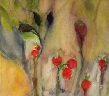 Rose Hips in Gold