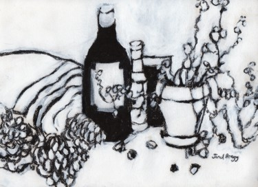 Still Life with Olive Oil, Pine Cones...