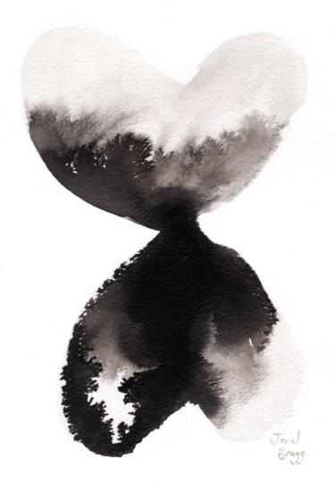 Abstract in Ink Hearts Fading Upward