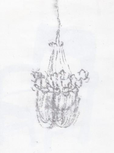 Faintly Lightly in Gray IV Chandelier 1.5
