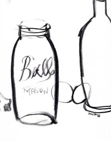 Still Life with Ball Mason Jar