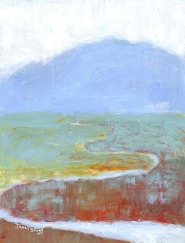 Mountainscape with Slough and Wildflowers for Annabelle