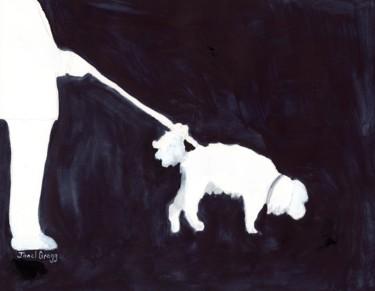 Man Walking His Dog in Indigo III