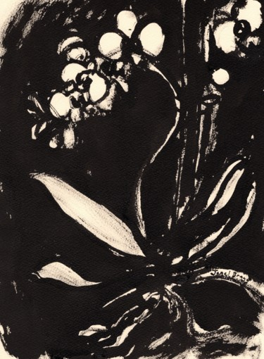 Orchid in Sumi Ink