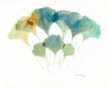 Ginkgo Leaves Layered with Soft Colors