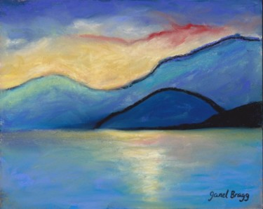 San Juan Island Twilight in pastels