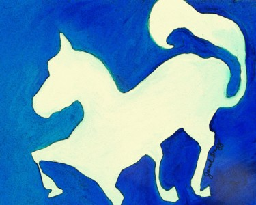 Horse in Blue and White