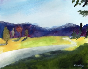 Cascade Foothills in Watercolor