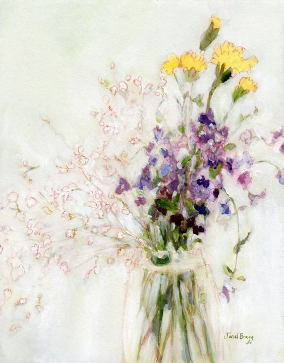 Janel Bragg - Phlox, Carnation and Baby's Breath from Sheely's
