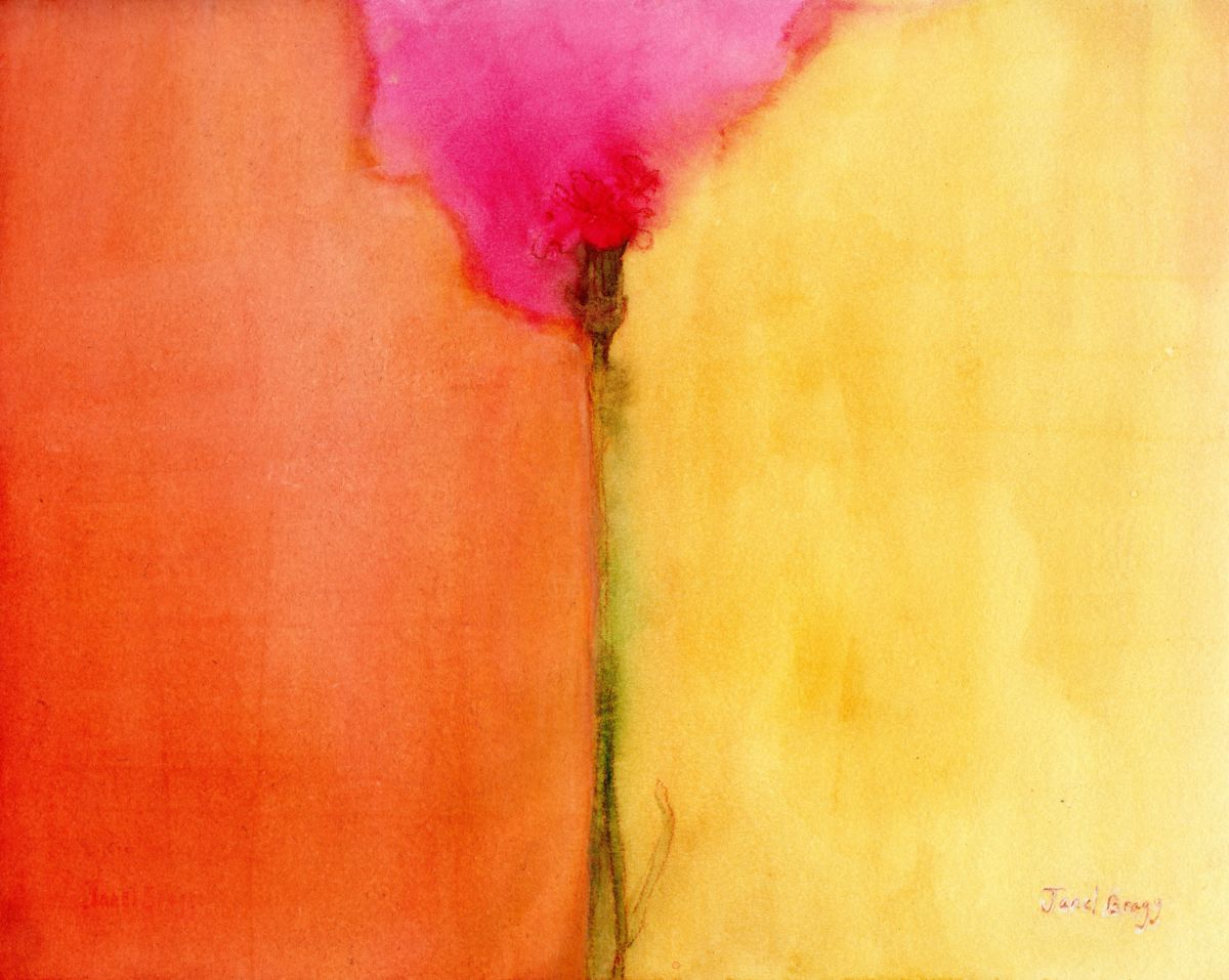 Janel Bragg - Floral Composition in Orange, Pink and Yellow