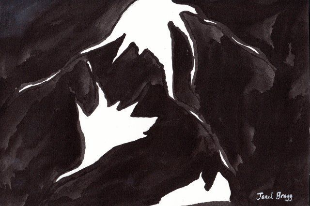 Janel Bragg - Abstract in Black and White